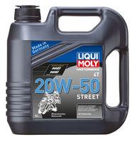 Liqui Moly Motorbike 4T Street 20W-50 — Минеральное моторное масло для 4-тактных мотоциклов (4 л) (art: 1696)