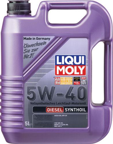 Liqui Moly Diesel Synthoil 5W-40 — Синтетическое моторное масло (5 л) (art: 1927)