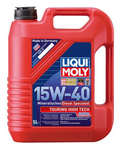 Liqui Moly Touring High Tech SHPD-Motoroil Basic 15W-40 — Минеральное моторное масло (5 л) (art: 2475)