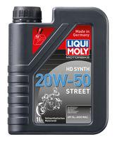 Liqui Moly Motorbike HD Synth Street 20W-50 — Синтетическое моторное масло для 4-тактных мотоциклов (1 л) (art: 3816)